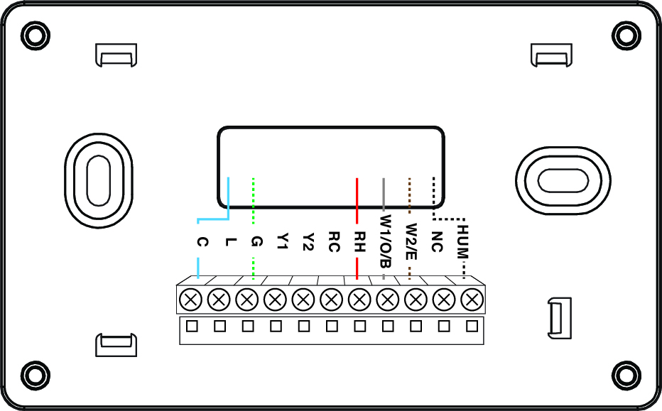 thermostat wiring diagram rc
