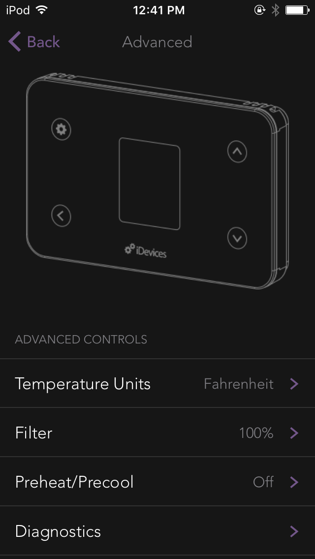 Advanced Thermostat Controls Idevices Customer Support