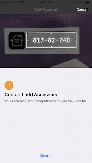 Accessory isn't Compatible with Router – Customer Support