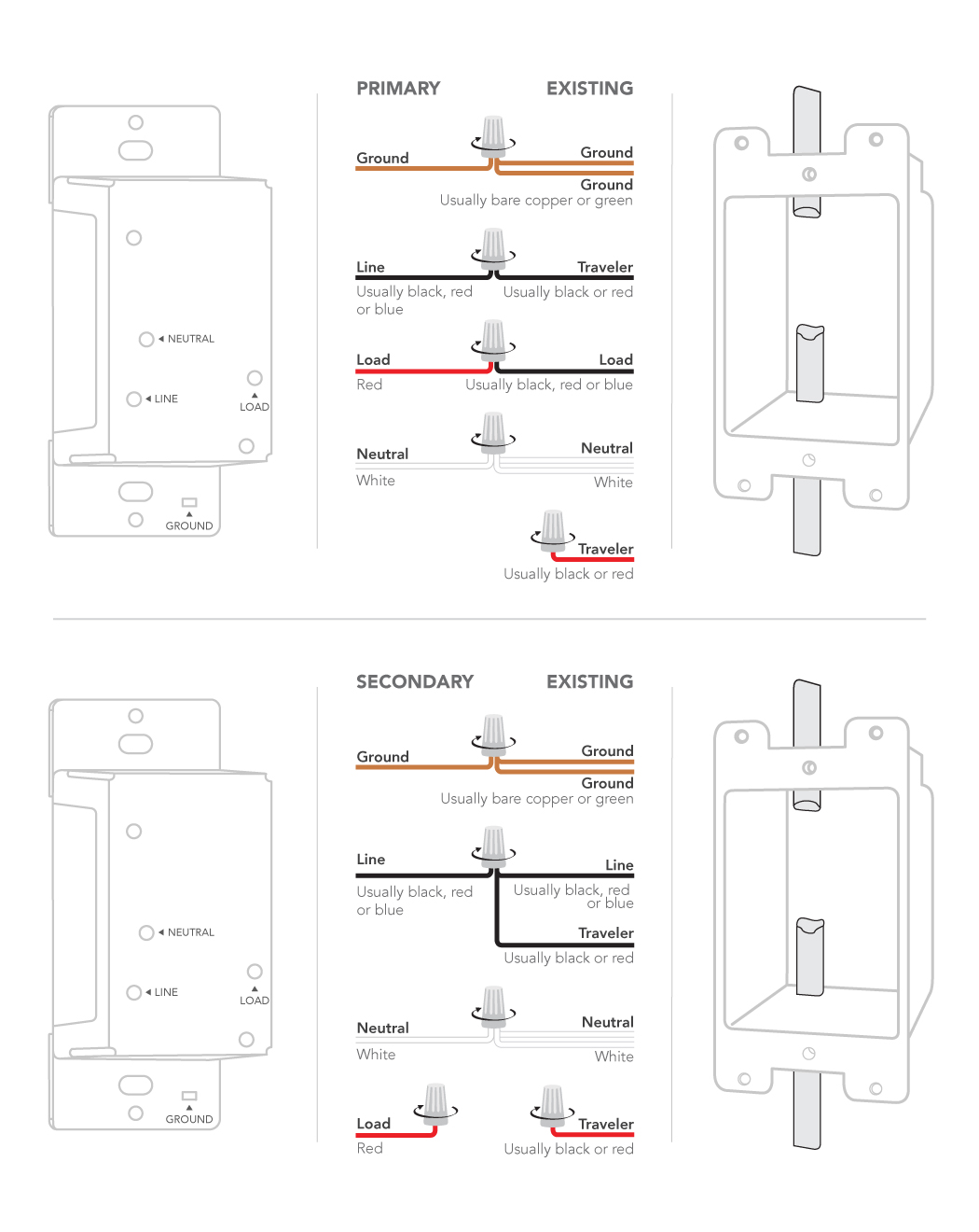 Installing Dimmer Switch: 3- and 4-way – Customer Support | 3 Way Dimmer Switch Wiring Diagram |  | iDevices Support